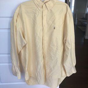 Ralph Lauren Button Down Pale Yellow Shirt